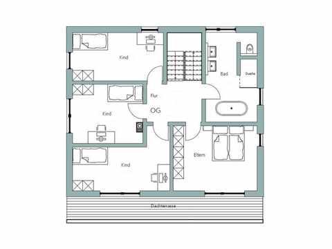Kubus Haus Unikat 082 - Maleck von TALBAU-Haus Grundriss DG