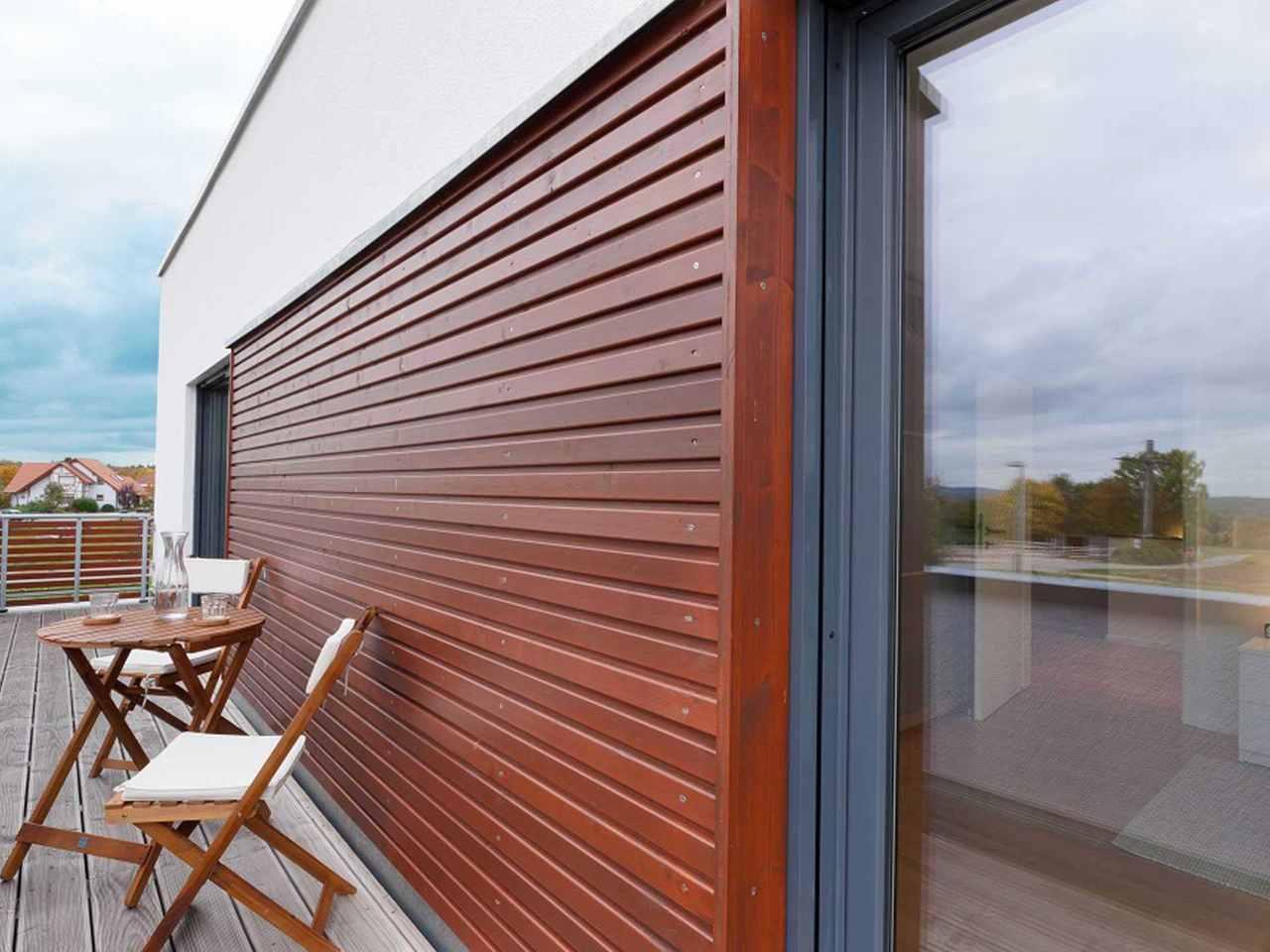 Kubus Haus Unikat 082 - Maleck von TALBAU-Haus Außenansicht Terrasse
