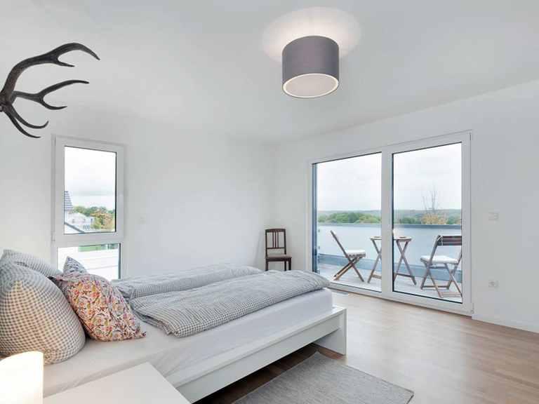 Schlafzimmer - Kubus Haus Unikat 082 - Maleck von TALBAU-Haus