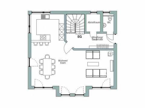 Einfamilienhaus Unikat 108 - Gegner von TALBAU-Haus Grundriss EG