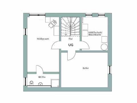 Einfamilienhaus Unikat 108 - Gegner von TALBAU-Haus Grundriss KG