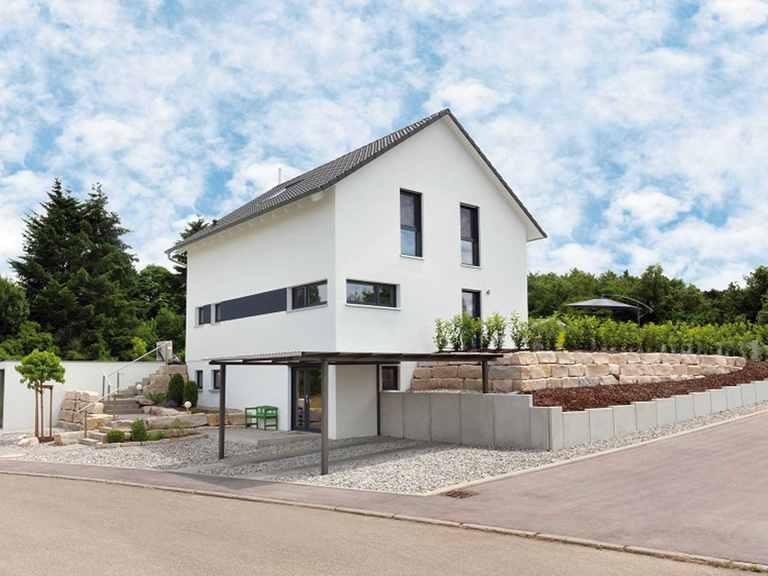 Einfamilienhaus Unikat 108 - Gegner von TALBAU-Haus Außenansicht 3