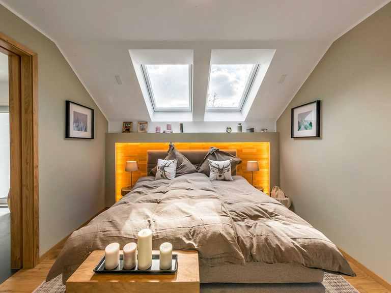 Schlafzimmer - Musterhaus Fellbach von OKAL Haus