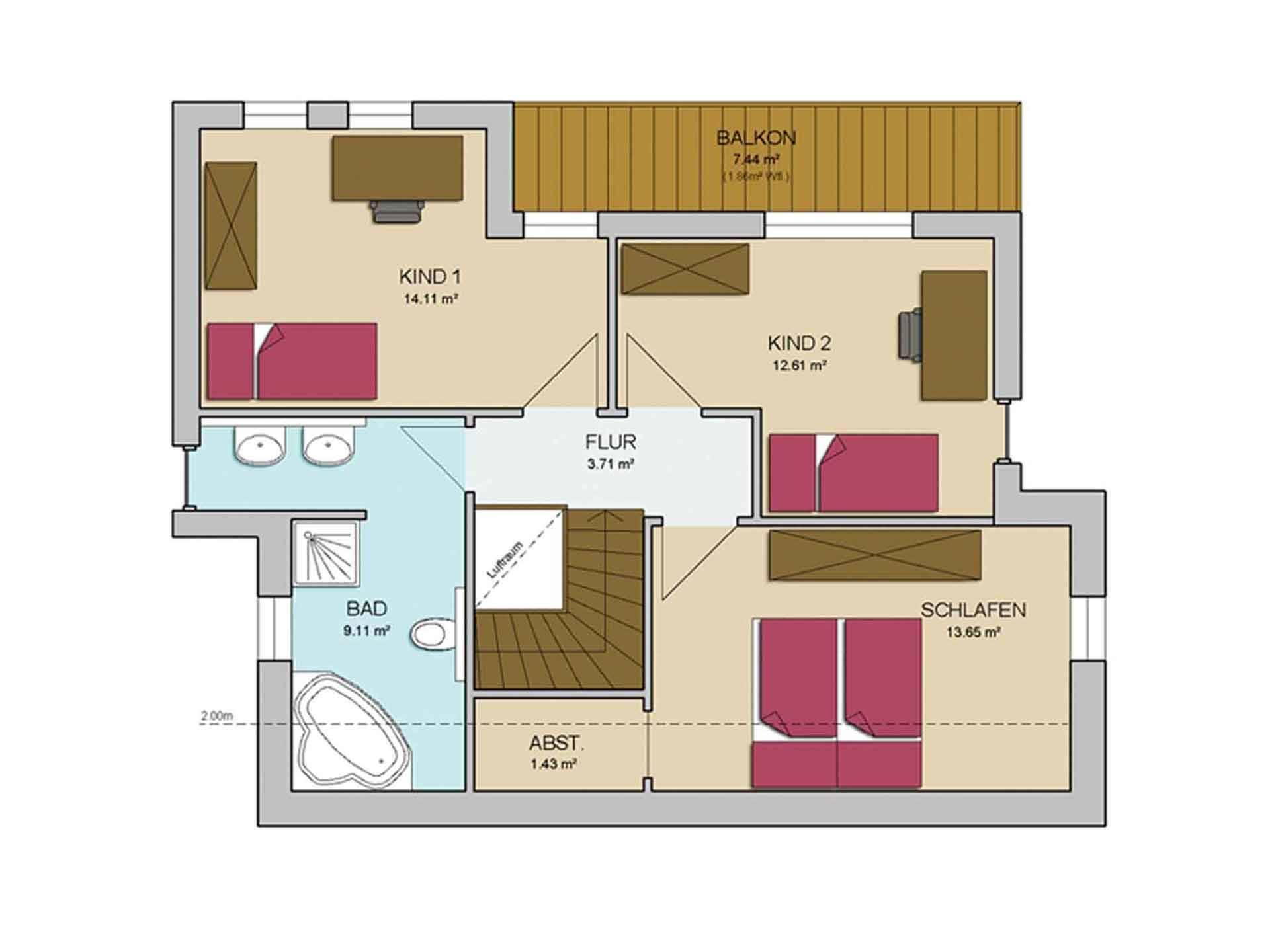 Grundriss einfamilienhaus modern obergeschoss  Pultdach Haus MODERN 123 - AP:art Haus