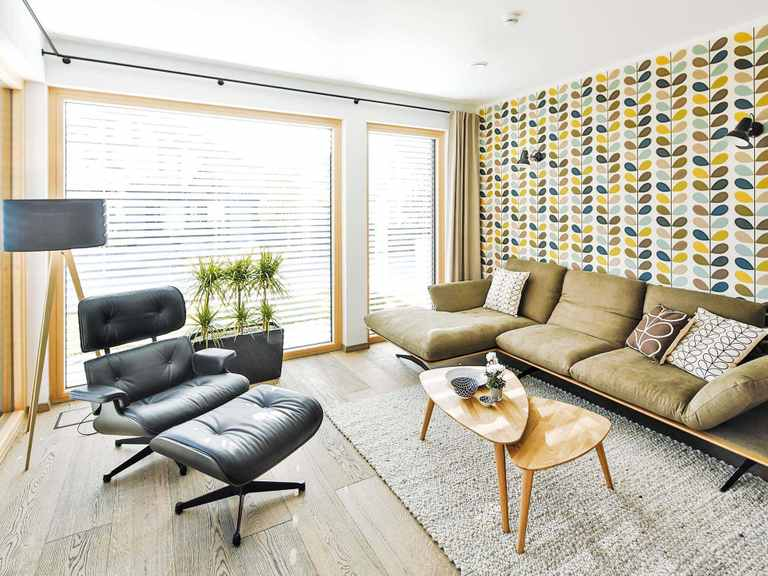 Regnauer Hausbau Musterhaus Heidi, Wohnzimmer