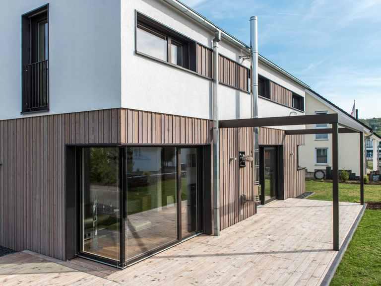 Terrasse - Musterhaus Design 183 von Frammelsberger Holzhaus