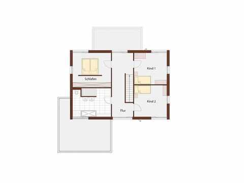 Musterhaus Design 183 von Frammelsberger Holzhaus Grundriss DG