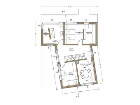 Gruber Holzhaus Musterhaus Poing Grundriss OG