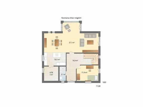 Musterhaus Engelsby - Danhaus Grundriss EG