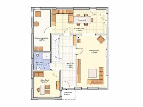Musterhaus Stuttgart - Fingerhut Haus Grundriss EG