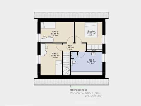 Einfamilienhaus 126A Grundriss OG