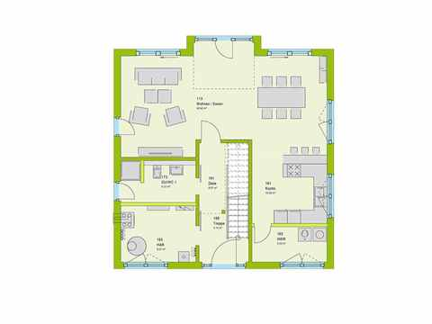 Einfamilienhaus Pure 02 Grundriss EG