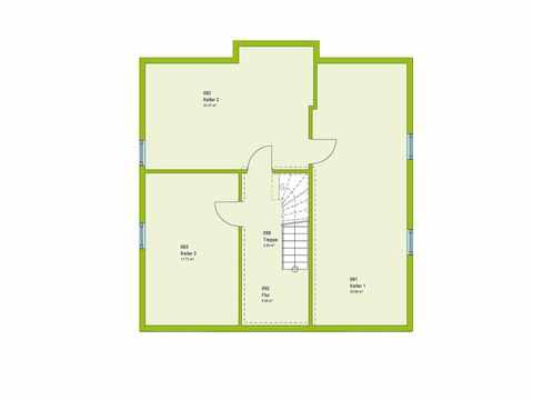 Einfamilienhaus Pure 02 Grundriss KG