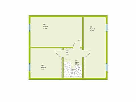 Einfamilienhaus Pure 05 Grundriss KG