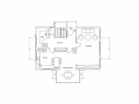Einfamilienhaus Seebruck Grundriss EG