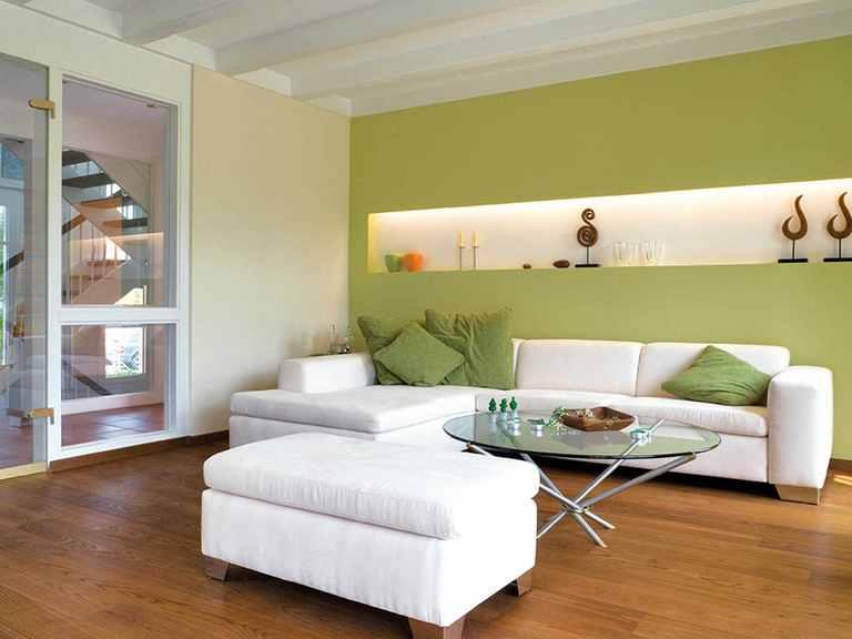 Einfamilienhaus Seebruck - Regnauer Hausbau Wohnzimmer