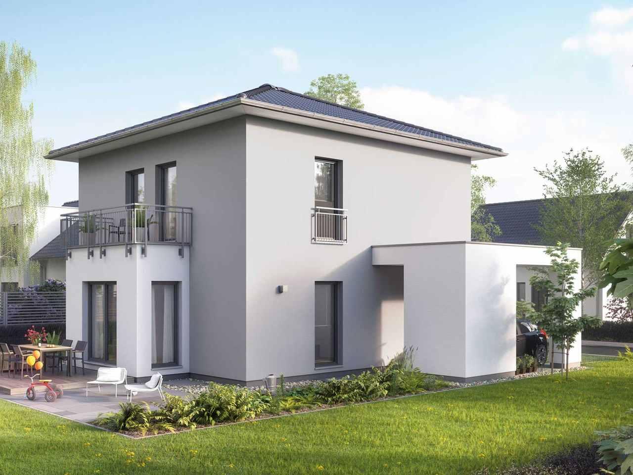 Stadtvilla ModernStyle 134 W Gartenansicht