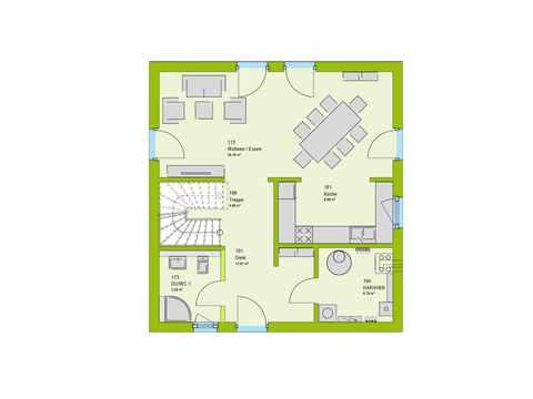 Stadtvilla ModernStyle 134 W Grundriss EG