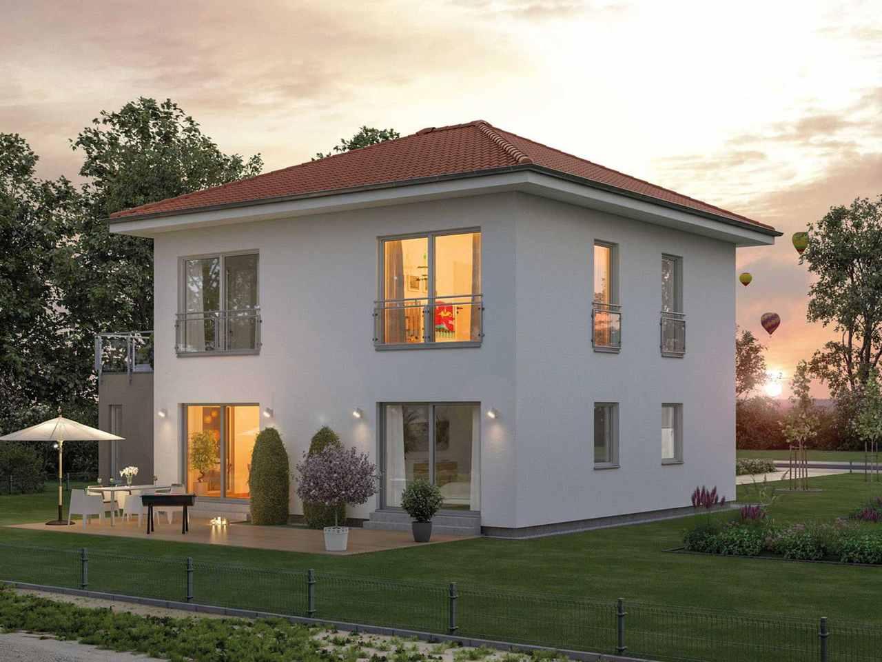 Stadtvilla ModernStyle 151 W Außenansicht
