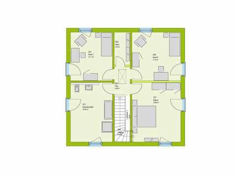 Stadtvilla ModernStyle 134 W Grundriss DG