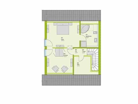 Doppelhaus Stadt-Special 03 Grundriss DG