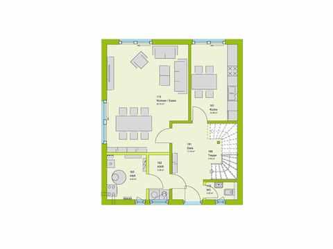 Doppelhaus Stadt-Special 03 Grundriss EG