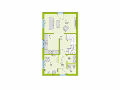 Doppelhaus Stadt-Special 04 Grundriss EG