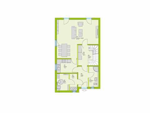 Doppelhaus Stadt-Special 05 Grundriss EG