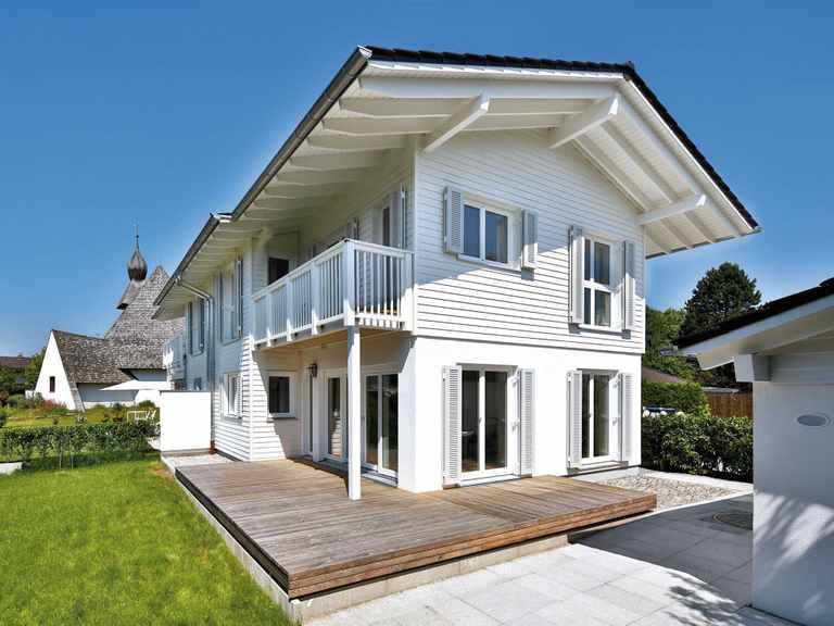Doppelhaus Breitbrunn - Regnauer Hausbau Terrasse
