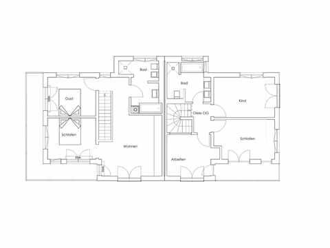 Doppelhaus Breitbrunn Grundriss OG