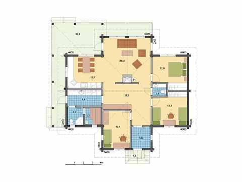 Holzhaus Indra Grundriss