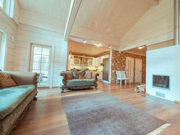 Holzhaus Indra Wohnzimmer Ansicht 1
