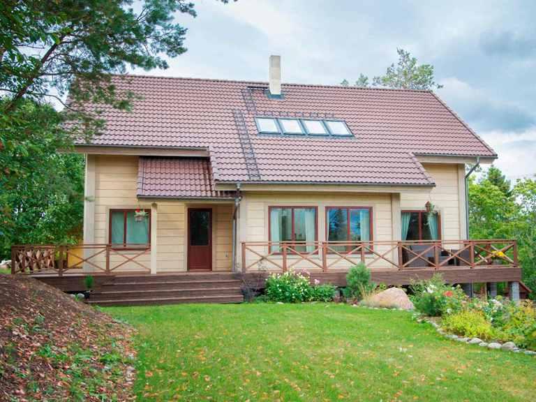 Holzhaus Nemesia Gartenansicht