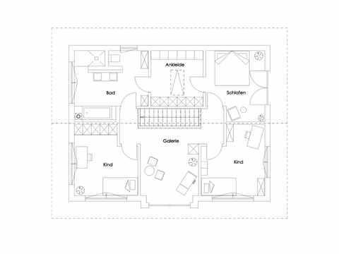 Einfamilienhaus Glonn Grundriss DG