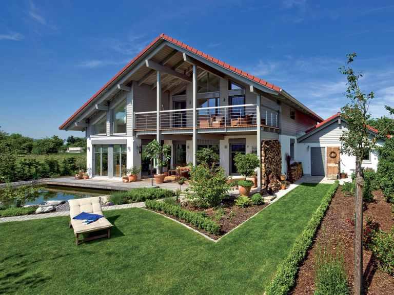 Einfamilienhaus Landshut - Regnauer Hausbau Gartenansicht