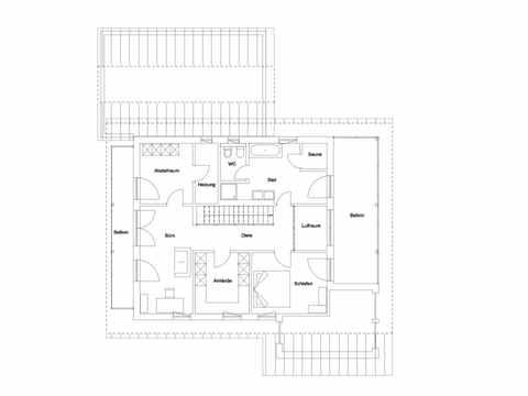 Einfamilienhaus Landshut Grundriss DG