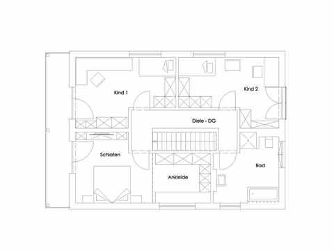 Einfamilienhaus Lautrach Grundriss DG