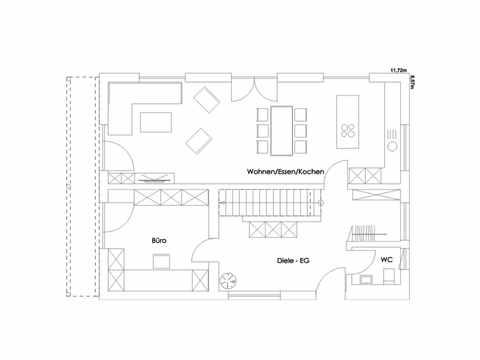 Einfamilienhaus Lautrach Grundriss EG