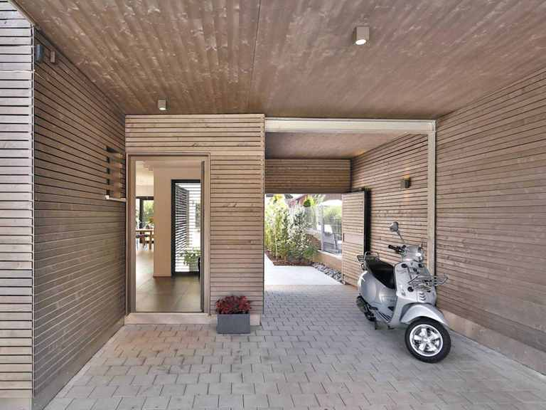 Stadtvilla Oberaudorf - Regnauer Hausbau Eingang