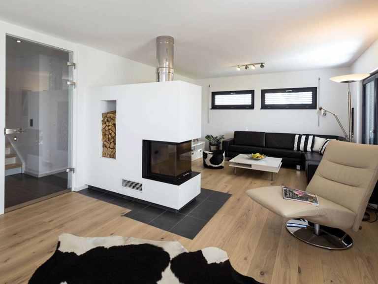 Kubus Haus Ulm - Regnauer Hausbau Wohnzimmer