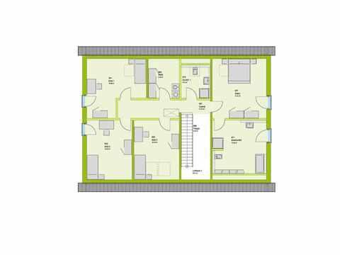 Mehrgenerationenhaus LifeStyle 35 Grundriss DG