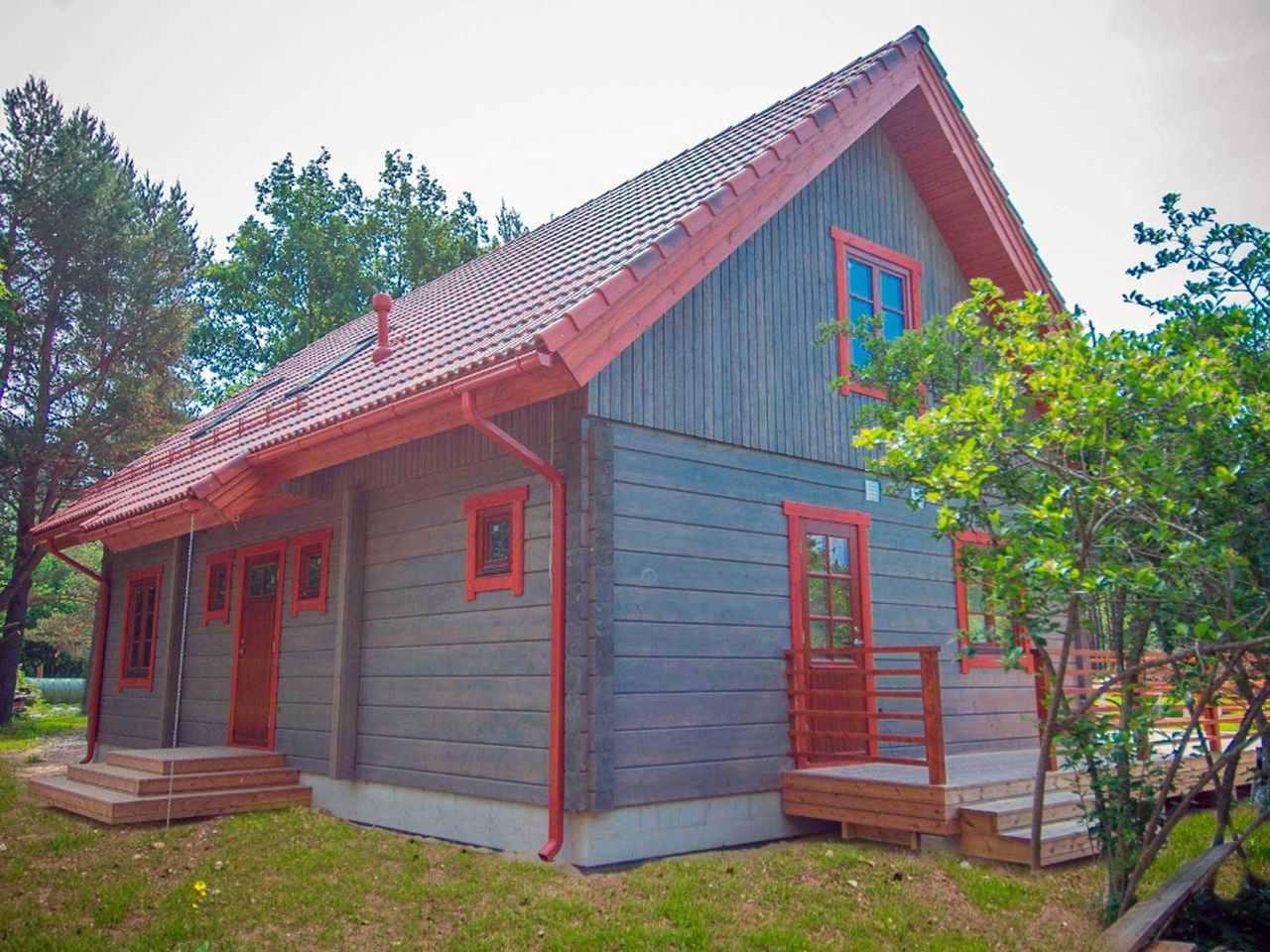 Holzhaus Aurora von der Seite