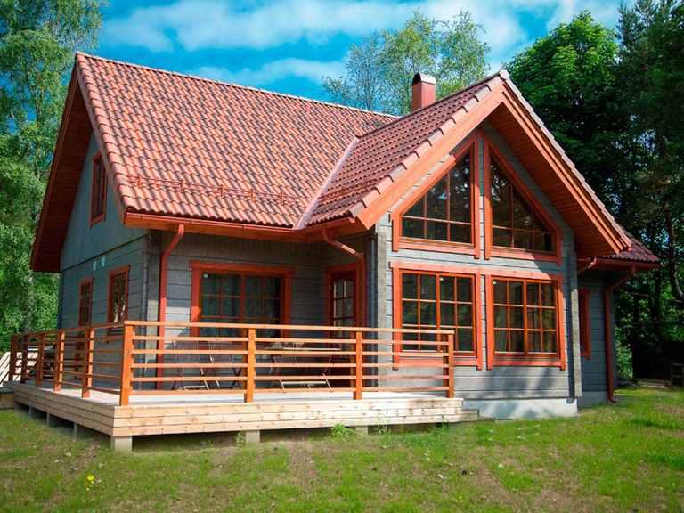 Holzhaus Aurora - Finnlog Deutschland Terrasse