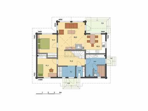 Holzhaus Aurora Grundriss EG