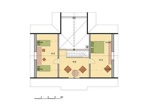 Holzhaus Aurora Grundriss DG
