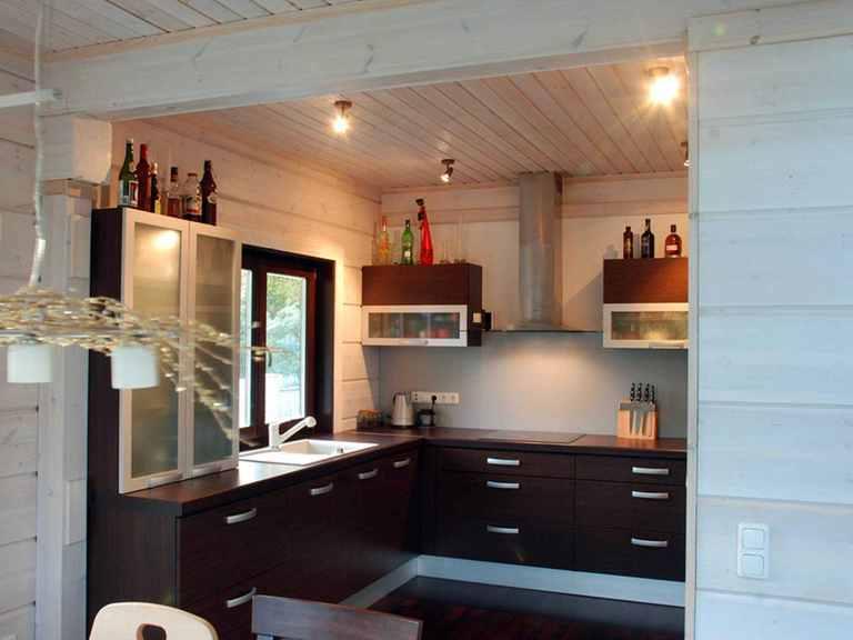 Holzhaus Aurora - Finnlog Deutschland Küche