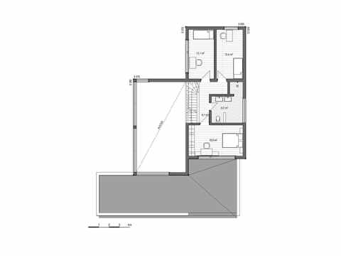 Holzhaus Canopus Grundriss DG