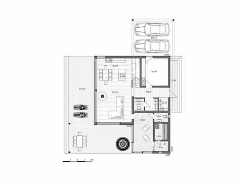 Holzhaus Canopus Grundriss EG