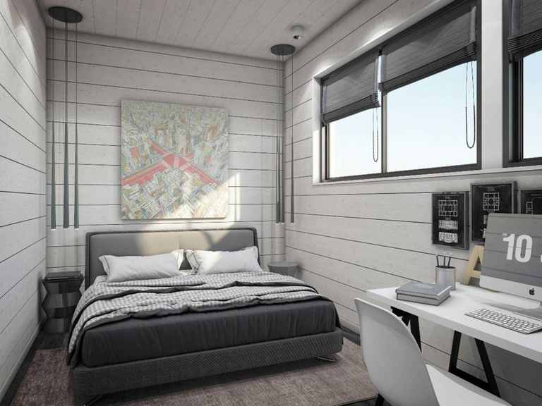 Holzhaus Canopus - Finnlog Deutschland Schlafzimmer