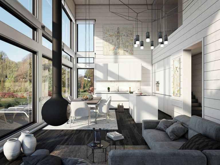 Holzhaus Canopus - Finnlog Deutschland Wohnzimmer